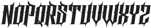 Screter Regular otf (400) Font UPPERCASE