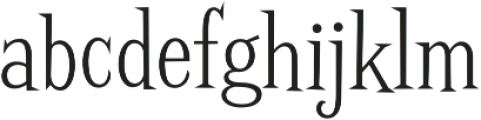 Screwby Cond Light otf (300) Font LOWERCASE