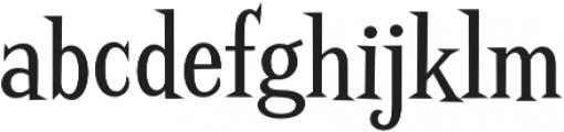 Screwby Cond Regular otf (400) Font LOWERCASE