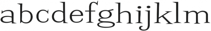 Screwby ExWide Light otf (300) Font LOWERCASE