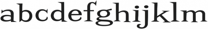 Screwby ExWide Regular otf (400) Font LOWERCASE