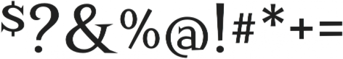 Screwby Regular otf (400) Font OTHER CHARS