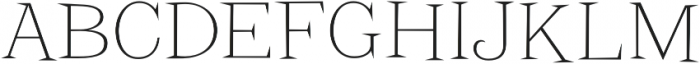 Screwby Thin otf (100) Font UPPERCASE