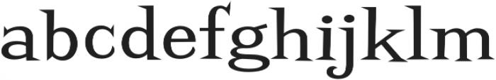 Screwby Wide Regular otf (400) Font LOWERCASE