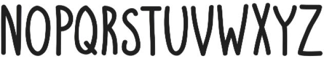 Scribblemonger Regular otf (400) Font UPPERCASE