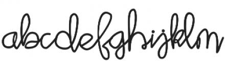 Script Bold otf (700) Font LOWERCASE