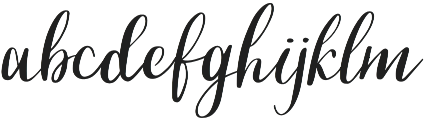 Script Cool otf (400) Font LOWERCASE