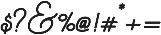 Script Regular otf (400) Font OTHER CHARS
