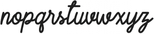 Script Regular otf (400) Font LOWERCASE