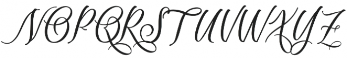 Scriptic Regular otf (400) Font UPPERCASE