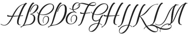 Scriptic Wilder otf (400) Font UPPERCASE