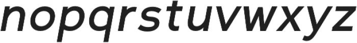 Scritto Sans Medium Oblique otf (500) Font LOWERCASE