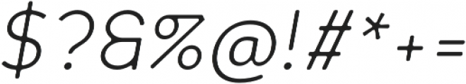 Scritto Sans Round Light Oblique Round otf (300) Font OTHER CHARS