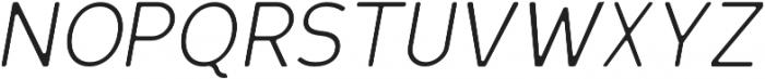 Scritto Sans Round Light Oblique Round otf (300) Font UPPERCASE