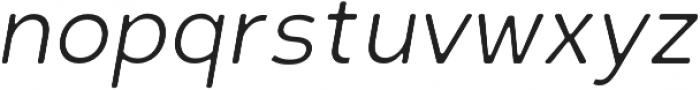 Scritto Sans Round Light Oblique Round otf (300) Font LOWERCASE
