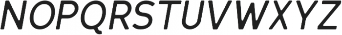 Scritto Sans Round Medium Oblique Round otf (500) Font UPPERCASE