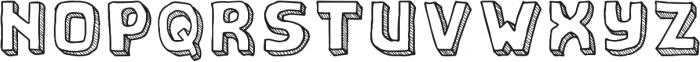 school otf (400) Font UPPERCASE