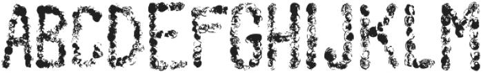 scribble regular otf (400) Font UPPERCASE