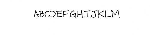 Scout Felt Tip Font UPPERCASE