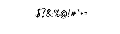Script Elegant Brushy.otf Font OTHER CHARS