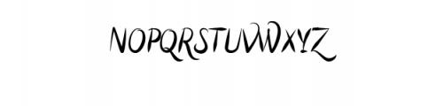 Script Elegant Brushy.otf Font UPPERCASE