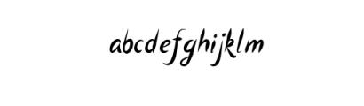 Script Elegant Brushy.otf Font LOWERCASE