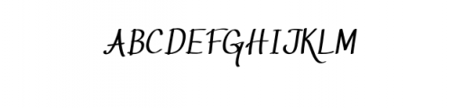 Script Elegant Castle.otf Font UPPERCASE