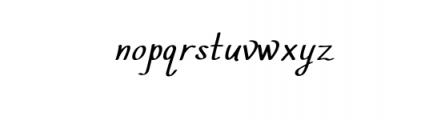 Script Elegant Castle.otf Font LOWERCASE