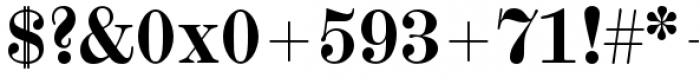 Scotch Micro Bold Font OTHER CHARS