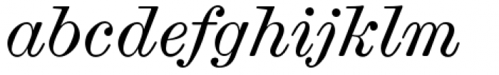 Scotch Micro Italic Font LOWERCASE