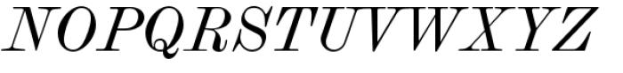 Scotch Modern Italic Font UPPERCASE