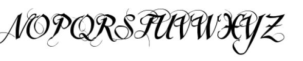 Scriptissimo Forte Swirls End Font UPPERCASE