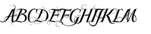 Scriptissimo Forte Swirls Middle Font UPPERCASE