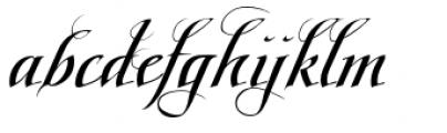 Scriptissimo Forte Swirls Middle Font LOWERCASE
