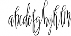 Scatter Sunshine Typeface Font LOWERCASE