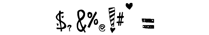 SC Manipulative Lovers Font OTHER CHARS
