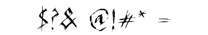 SCARFACE Font OTHER CHARS