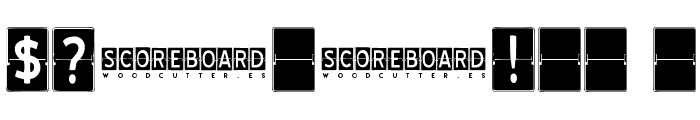 SCOREBOARD Font OTHER CHARS