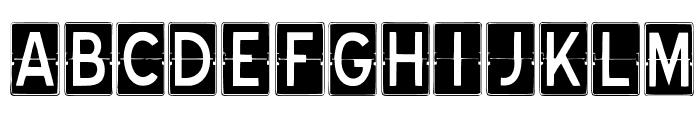 SCOREBOARD Font LOWERCASE