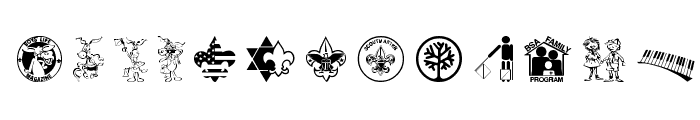 SCOUT015 Font UPPERCASE