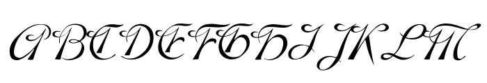 SCRIPT 9 Font UPPERCASE