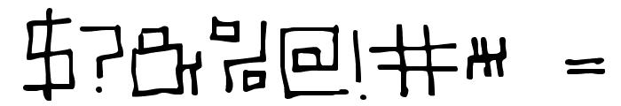 SCSI Port Font OTHER CHARS