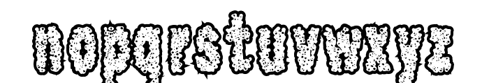 Scab Font LOWERCASE