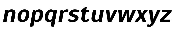 Scada Bold Italic Font LOWERCASE