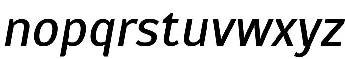 Scada Italic Font LOWERCASE