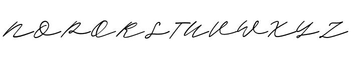 ScandiloverScript Font UPPERCASE