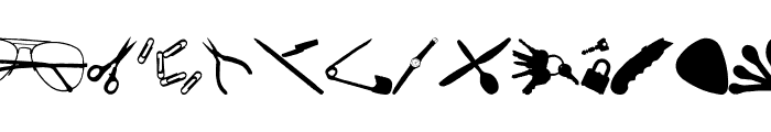 Scanned Objects JL Font LOWERCASE