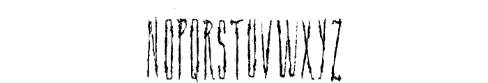 Scar Bleed Font LOWERCASE
