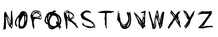 Scar-Regular Font UPPERCASE