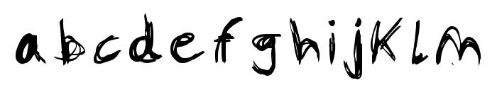 Scar-Regular Font LOWERCASE